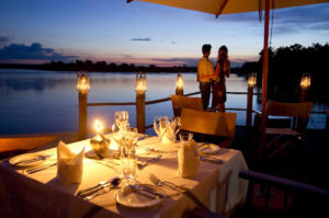 Africa; Zambia; Sanctuary Sussi and Chuma; Sundowner deck