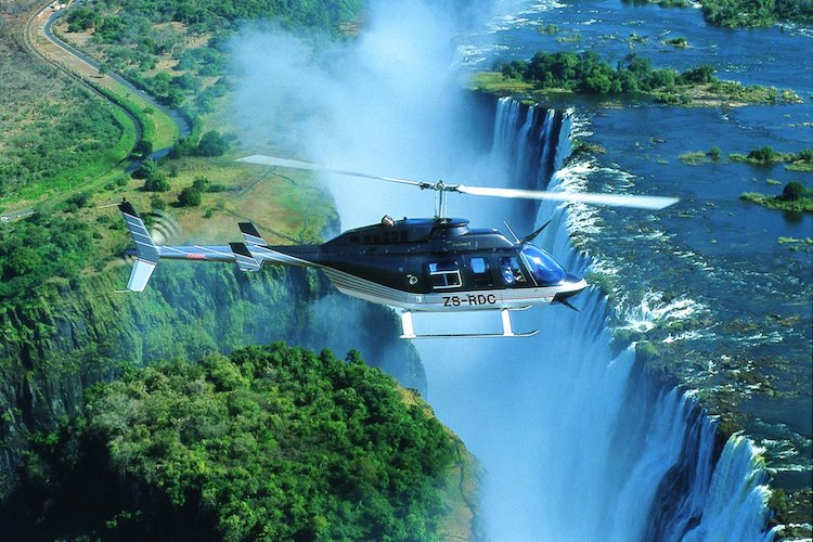 helicopter ride victoria falls