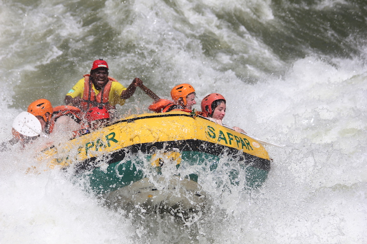 white water rafting livingstone