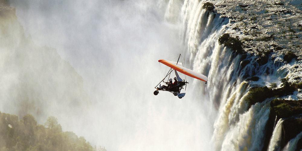 microlight flight Victoria Falls