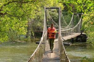 Swinging Bridge at Islands of Siankaba