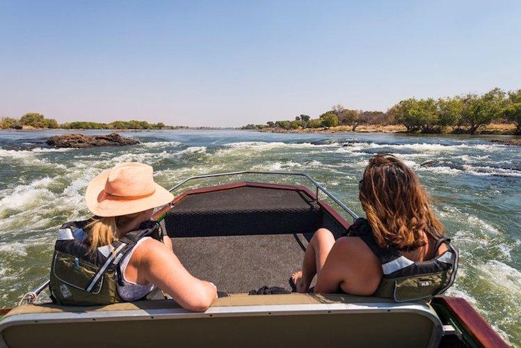 boat cruise on the zambezi river