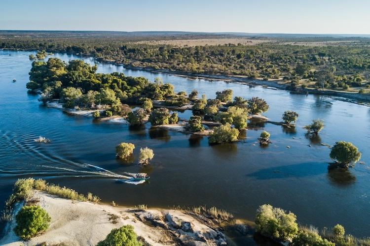 zambezi river view, livingstone