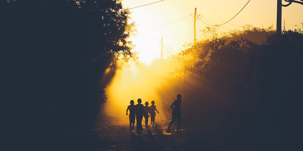 kids playing in Zambia