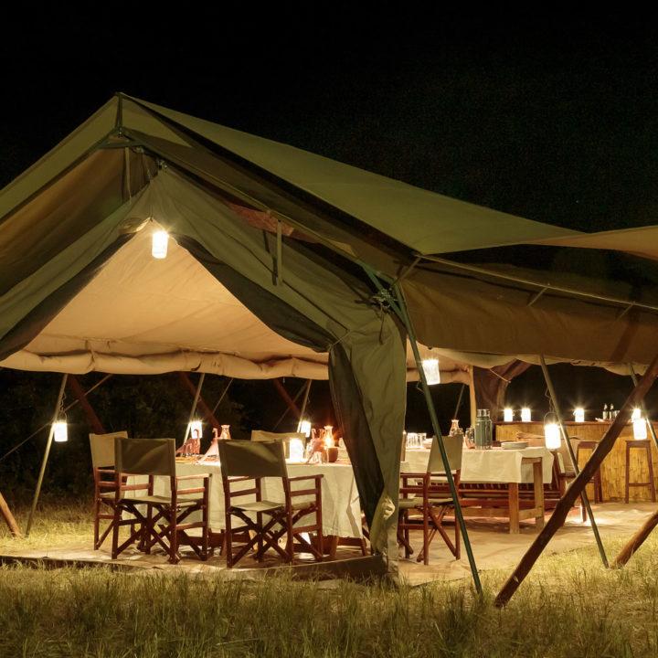 Nkonzi Camp Meru Tent Night