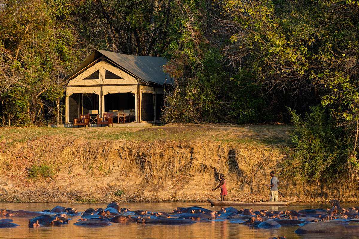 luambe-camp-lodge-zambia-in-style-tours-safari-packages-lodges-luambe-national-park-between-south-north-luangwa-tent-luangwa-hippo