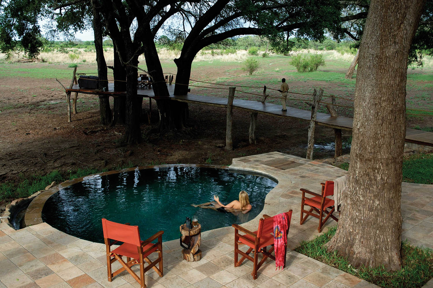luangwa safari house lodge-zambia-in-style-tours-safari-packages-lodges-south-luangwa-national-park-swimming-pool