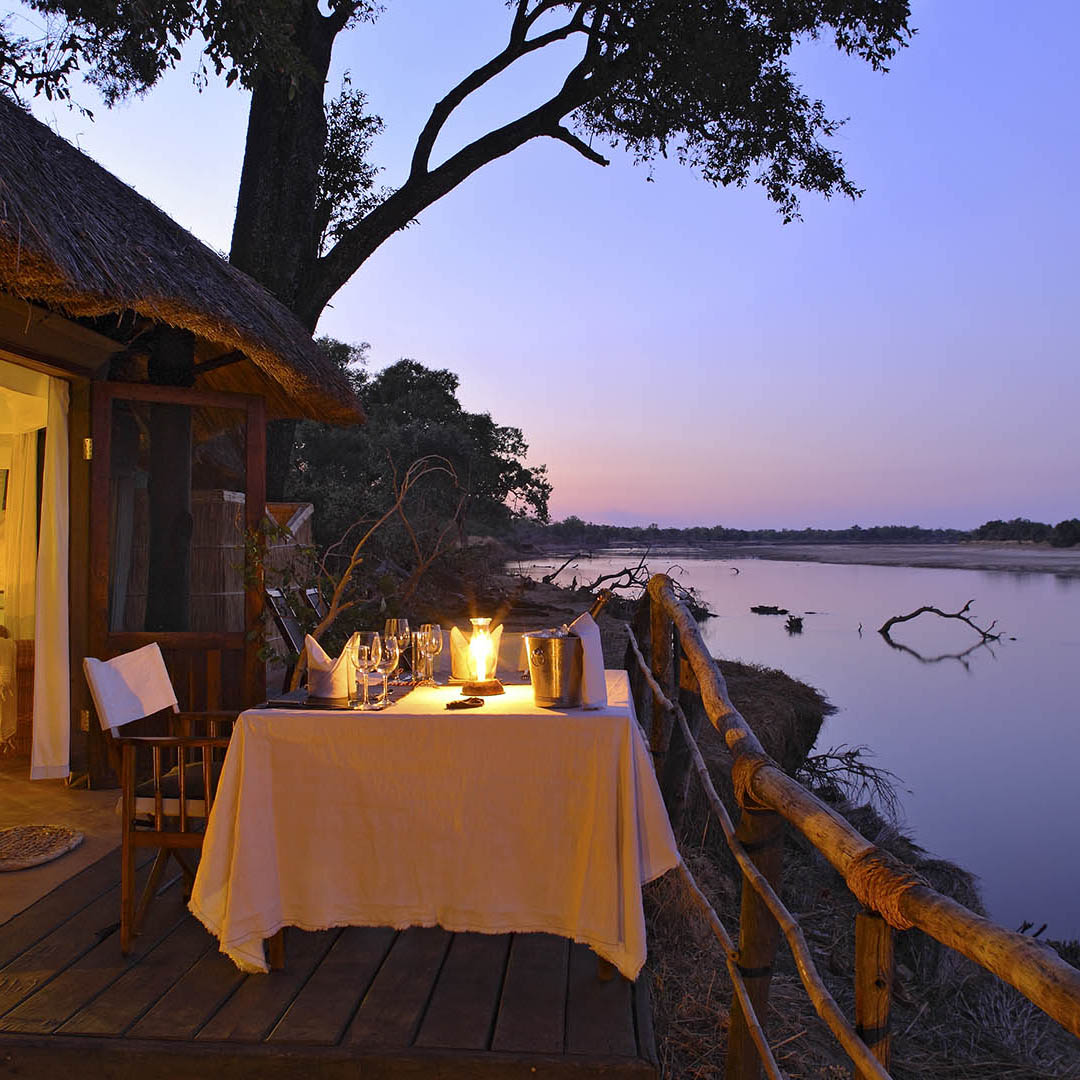 mchenja-bush-camp-lodge-zambia-in-style-tours-safari-packages-lodges-explore-south-luangwa-national-park-evening-dining-romantic