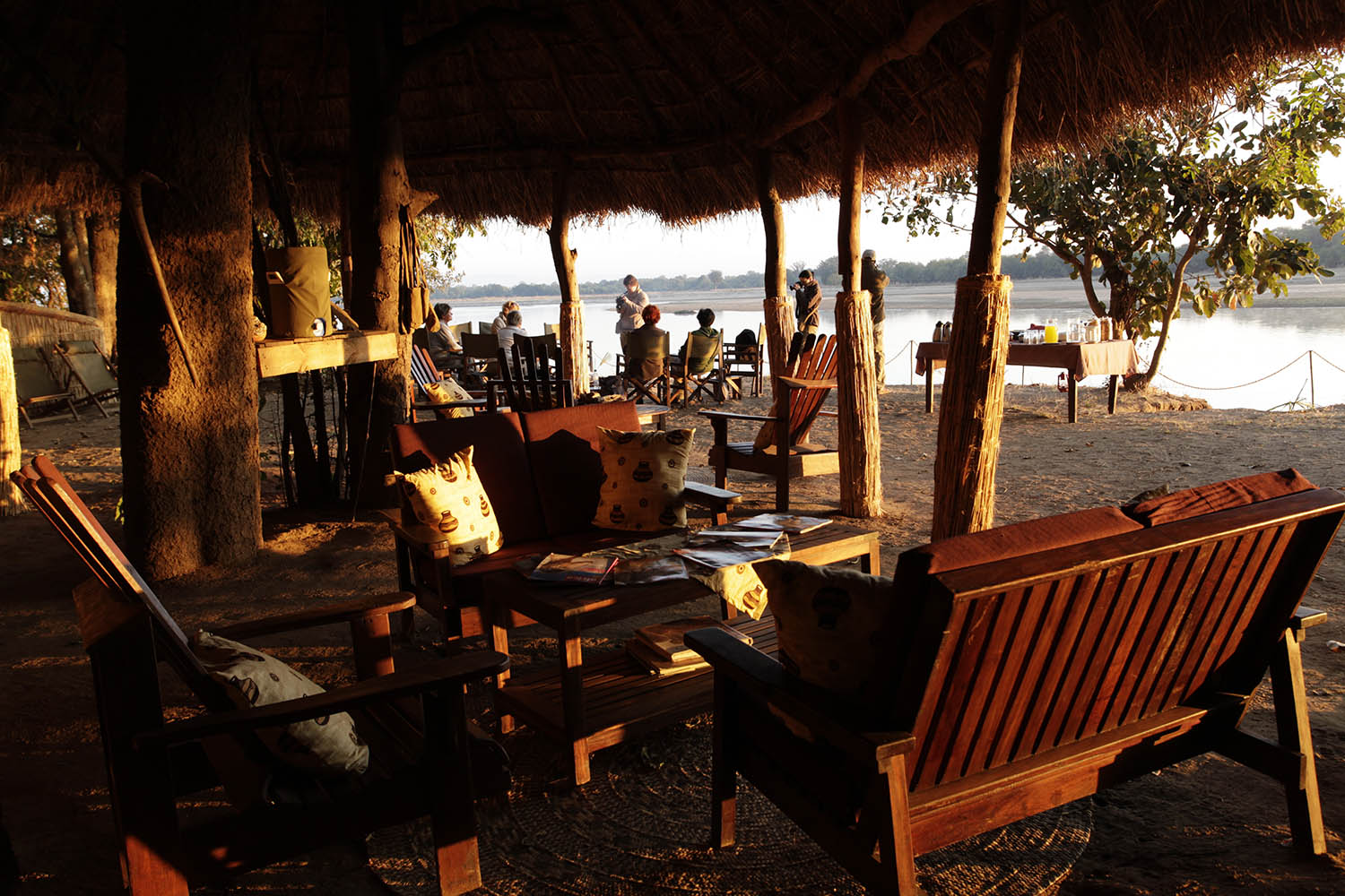 island bush camp lodge-zambia-in-style-safari-packages-south-luangwa-afternoon-tea