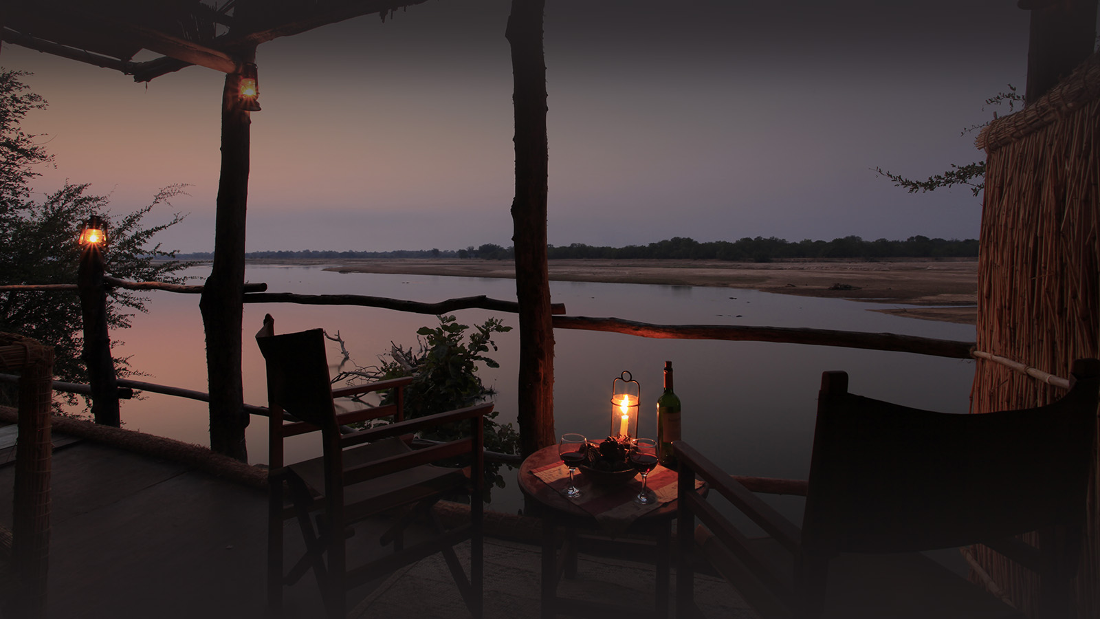 island bush camp lodge-zambia-in-style-safari-packages-south-luangwa-room-views-eveing-sky
