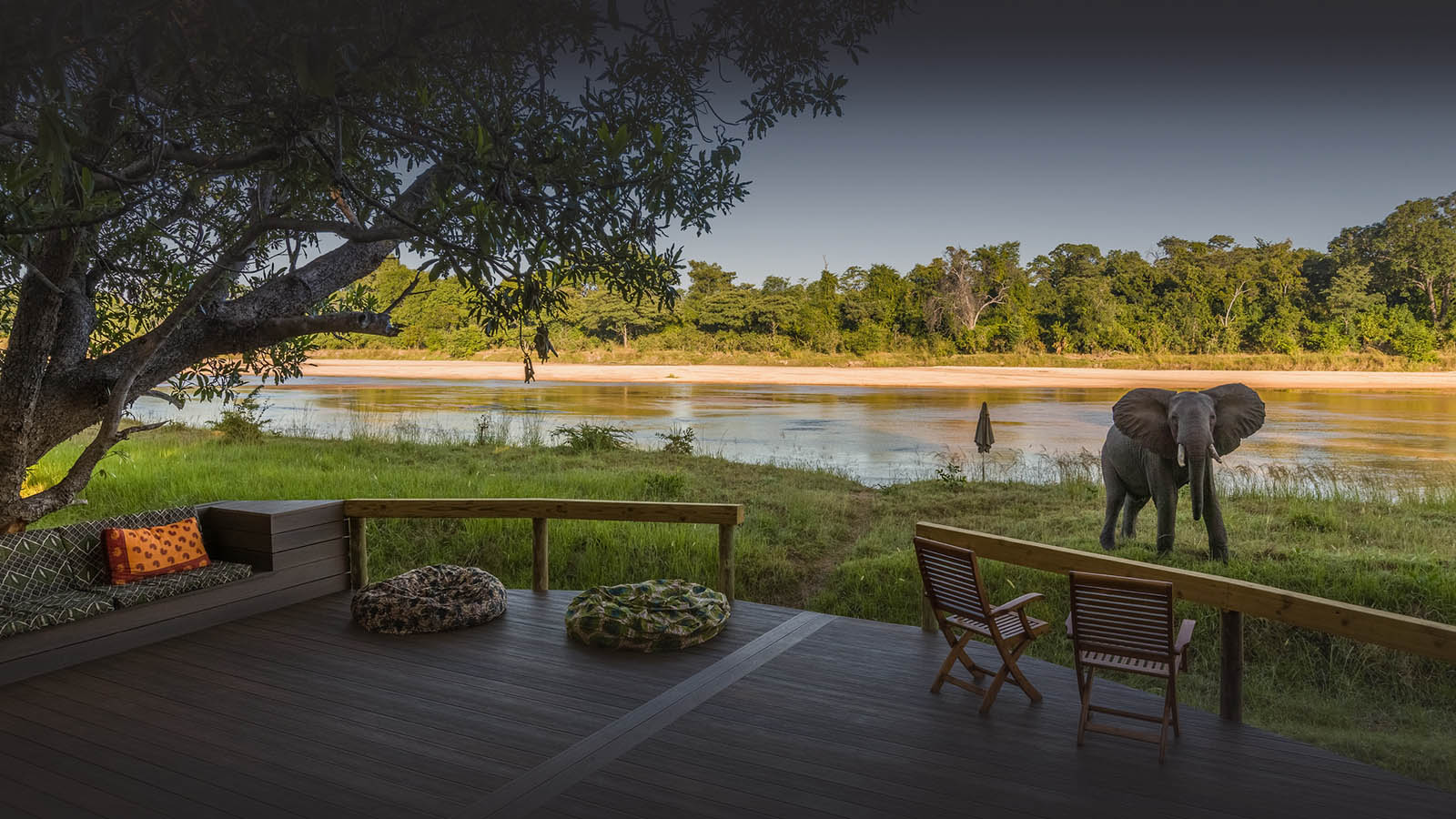 kapamba bushcamp lodge-zambia-in-style-tours-travel-safari-packages-lodges-south-luangwa-national-park-deck-elephant