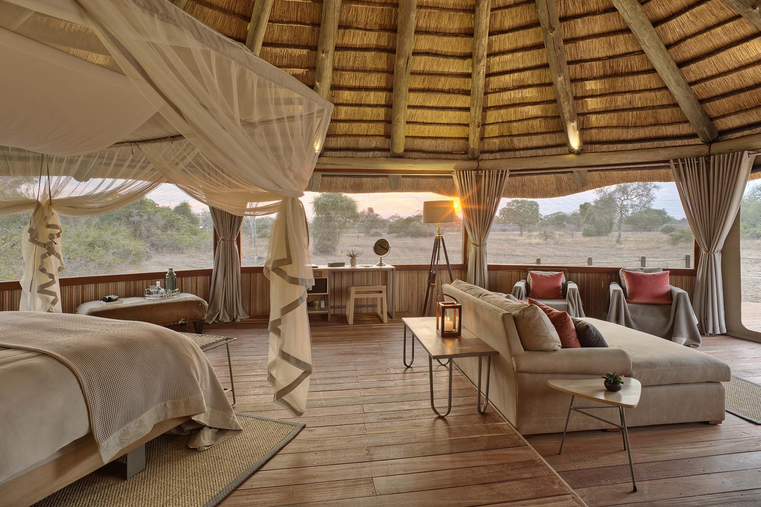 lion camp lodge-zambia-in-style-safari-packages-tours-south-luangwa-national-park-deluxe-suite-interiors
