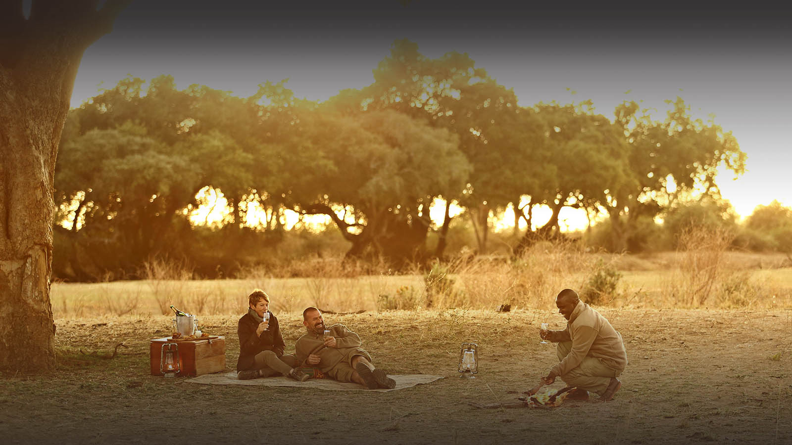 lion camp lodge-zambia-in-style-safari-packages-tours-south-luangwa-national-park-romantic-sundowners