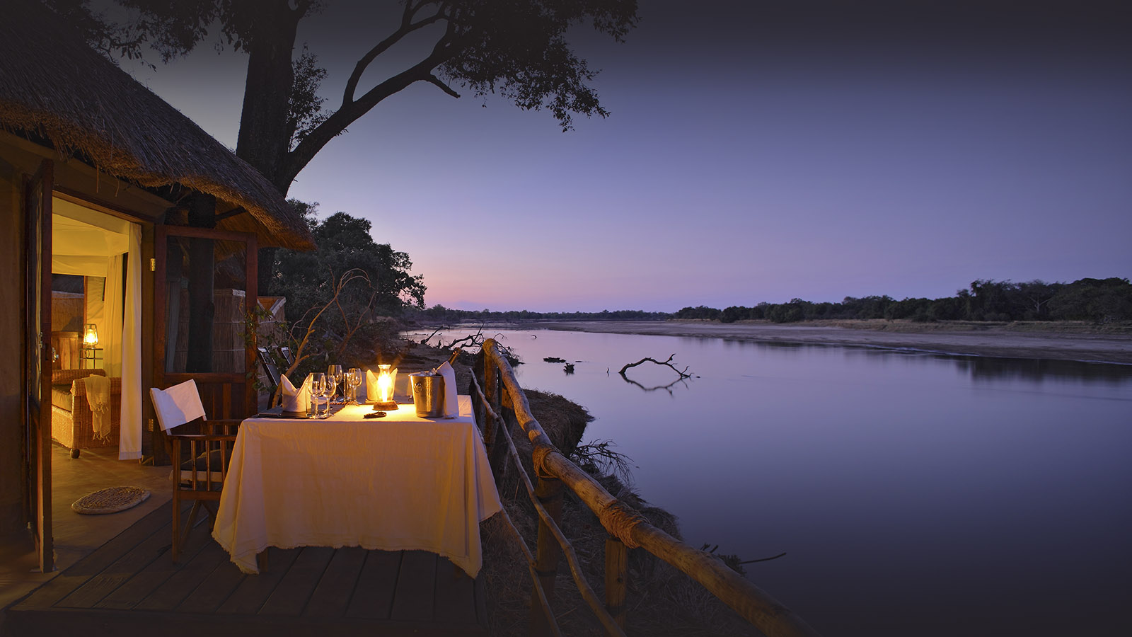 mchenja-bush-camp-lodge-zambia-in-style-tours-safari-packages-lodges-south-luangwa-national-park-dining-evening