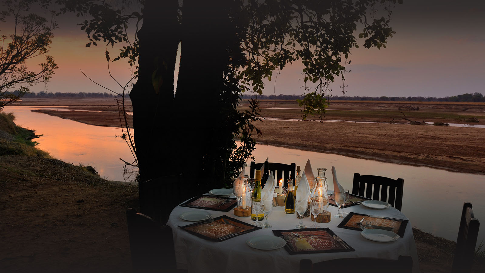 tafika-camp-lodge-zambia-in-style-tours-safari-packages-lodges-south-luangwa-national-park-dinner-view