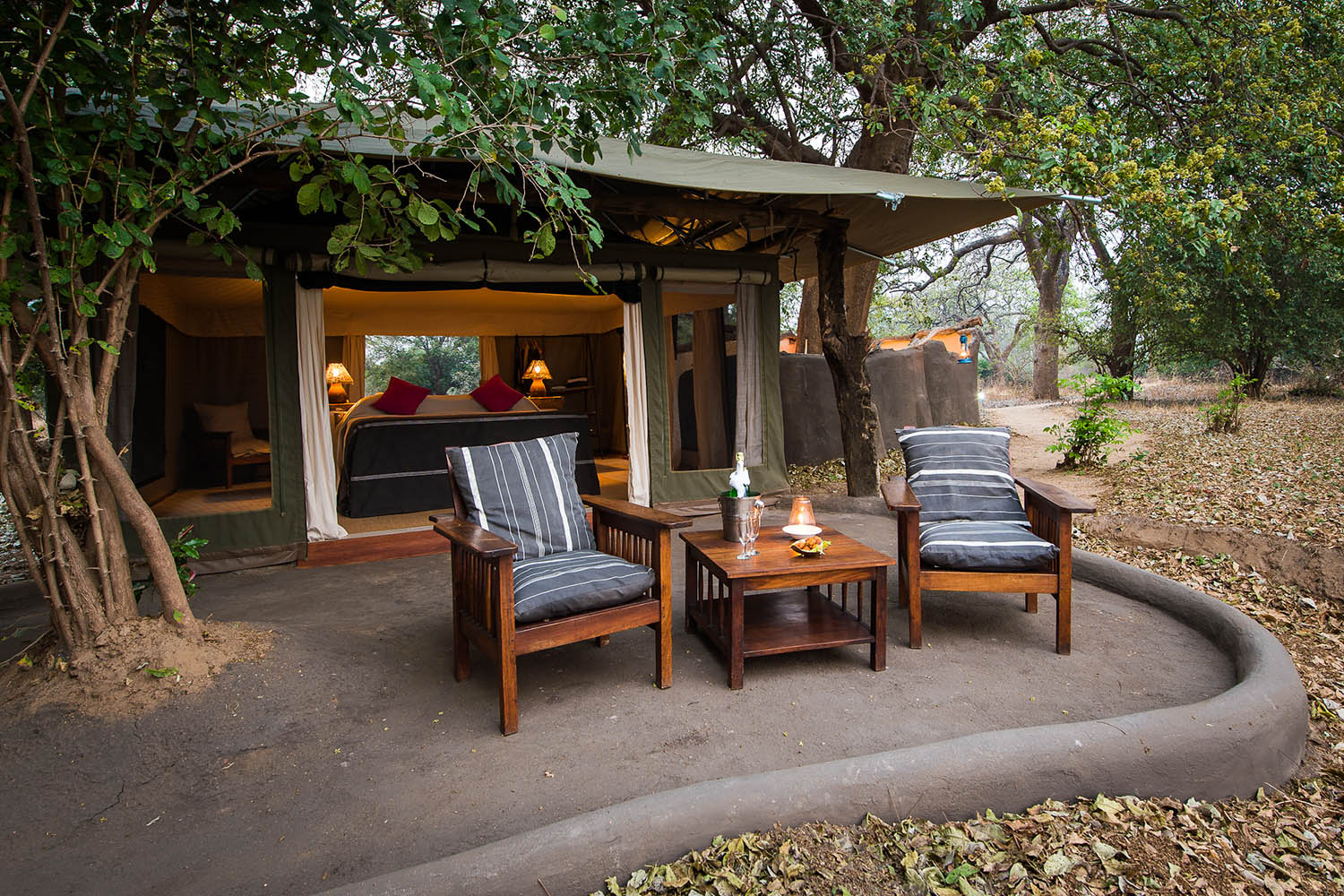 tena tena camp lodge-zambia-in-style-safari-packages-lodges-south-luangwa-national-park-room-exterior