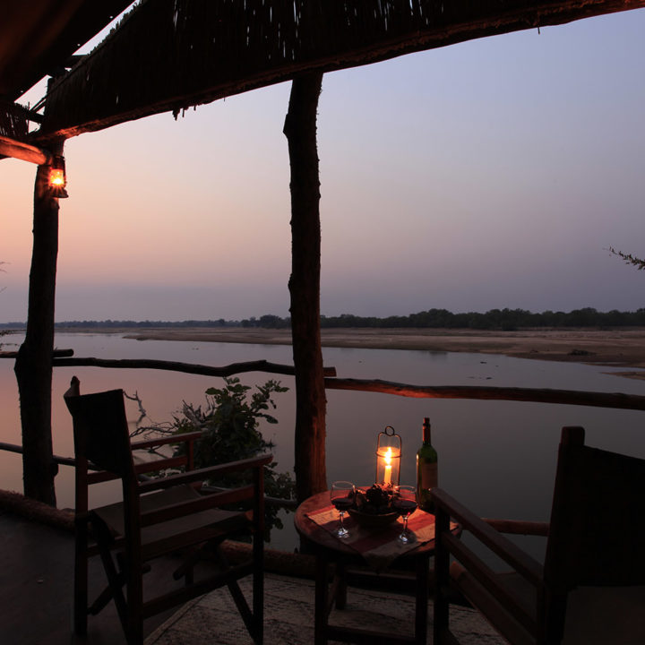 three rivers camp luxury-bush-camp-zambia-in-style-safari-packages-south-luangwa-room-view-evening