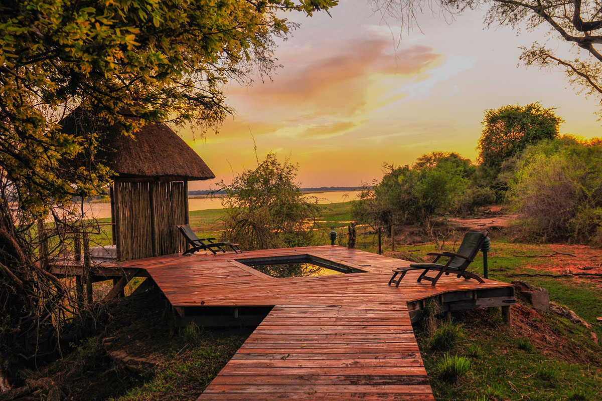 the royal zambezi zambia-in-style-safari-packages-lodges-lower-zambezi-private-plunge-pool-view-landscape