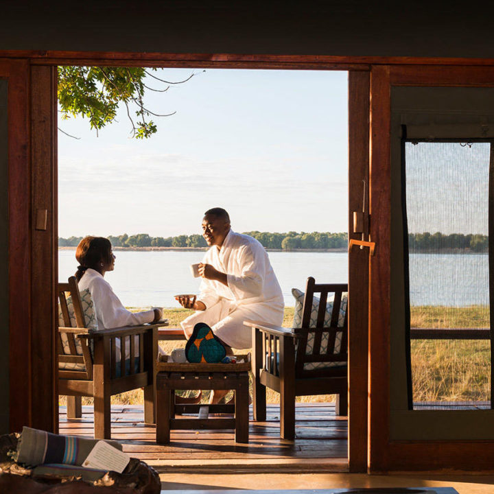 the royal zambezi zambia-in-style-safari-packages-lodges-lower-zambezi-rooms-morning-tea-on-private-deck