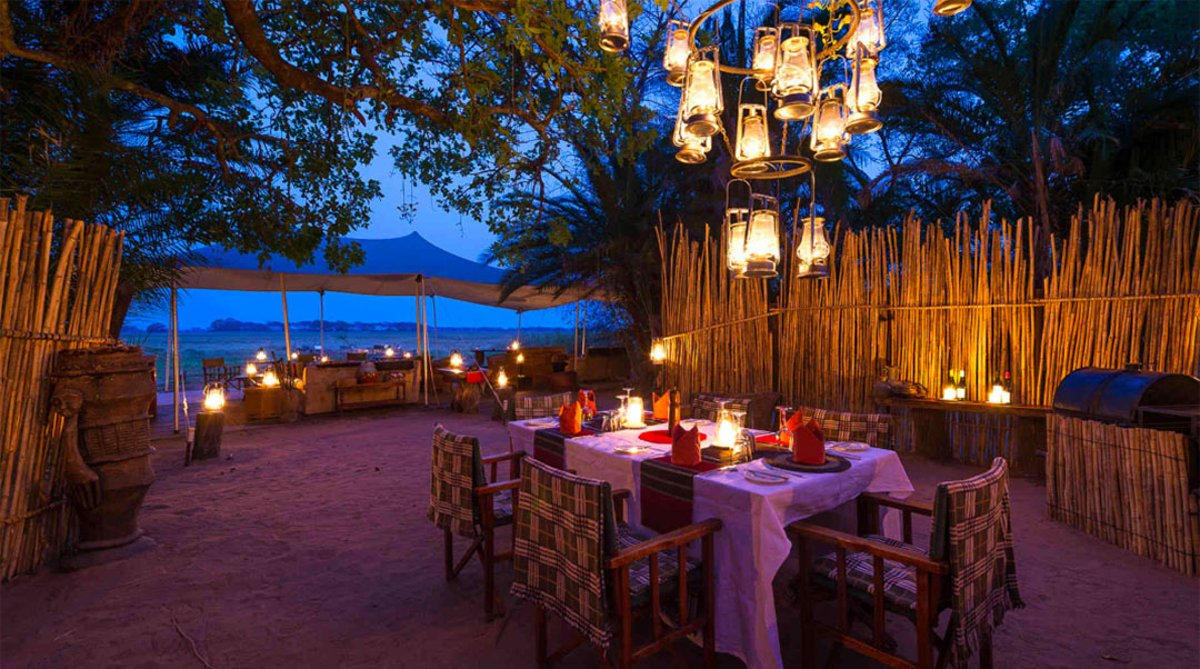 busanga bush camp zambia-in-style-safari-packages-lodges-kafue-national-park-canvas-chalets-dining