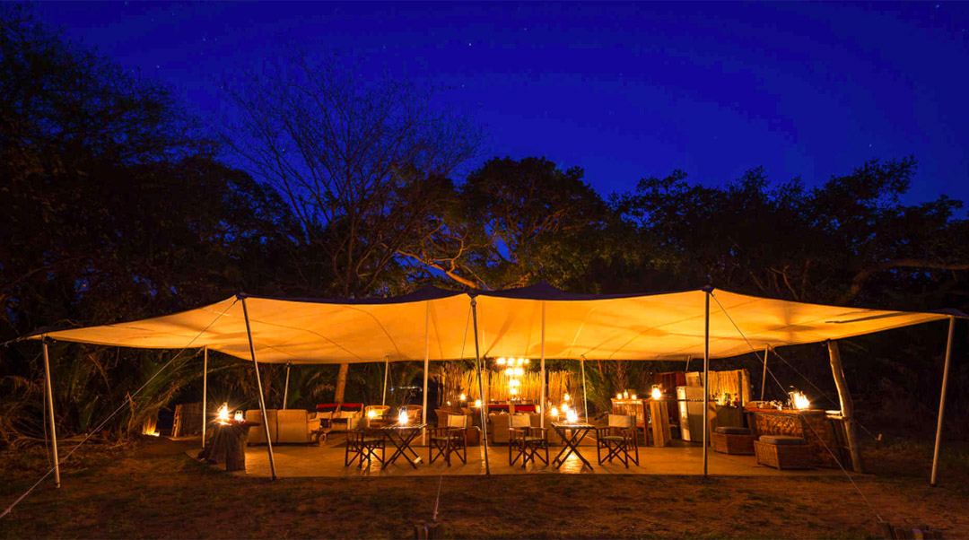 busanga bush camp zambia-in-style-safari-packages-lodges-kafue-national-park-canvas-chalets-evening-camp
