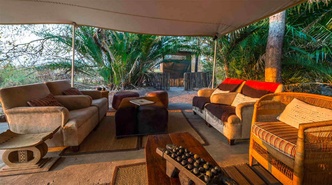 busanga bush camp zambia-in-style-safari-packages-lodges-kafue-national-park-canvas-chalets-sitting-area