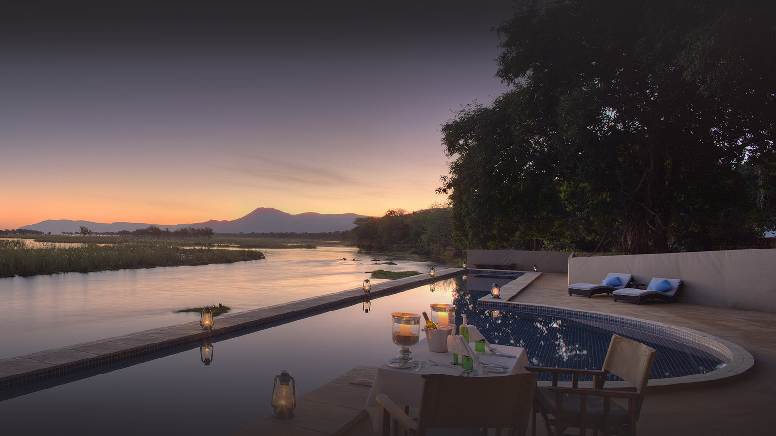 sausage tree camp lodge-zambia-in-style-safari-packages-lodges-lower-zambezi-national-park-camp-pool