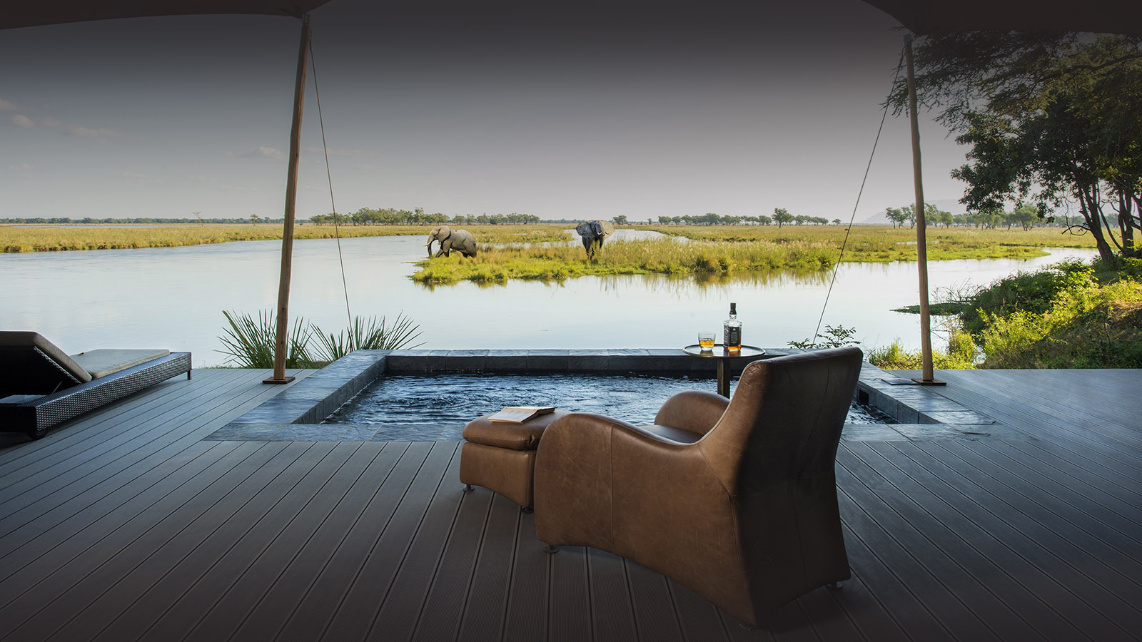sausage tree camp lodge-zambia-in-style-safari-packages-lodges-lower-zambezi-national-park-luxury-suite-view-elephant