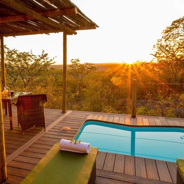elephant camp victoria-falls-zimbabwe-accommodation-tented-chalets-wild-horizons-balcony-pool