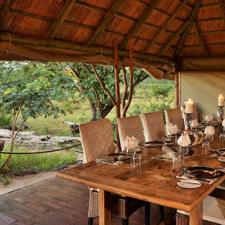 khulu bush camp zimbabwe-lodges-zambia-in-style-safaris-wildlife-africa-hwange-national-park-captains-table