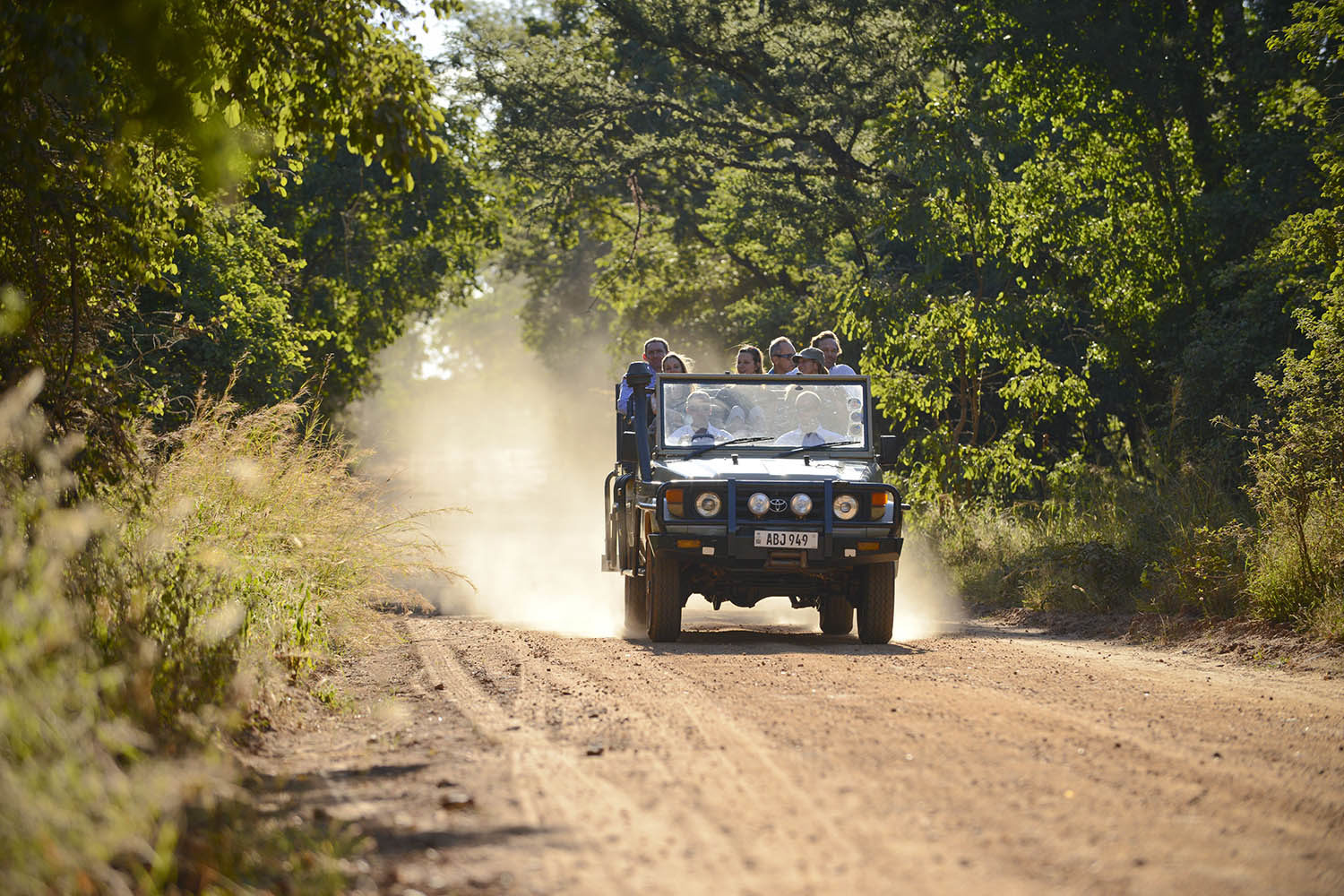 lilayi lodge zambia-in-style-tours-safari-packages-lodges-lusaka-accommodation-activities-game-vehicle-on-road