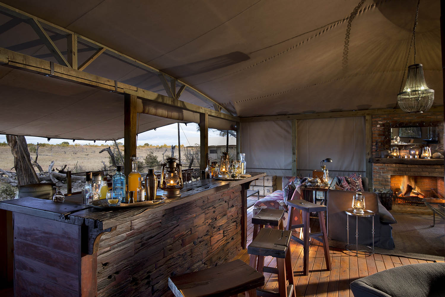 somalisa expeditions zimbabwe-zambia-in-style-hwange-national-park-african-bush-camps-traditional-safari-experience-bar-area
