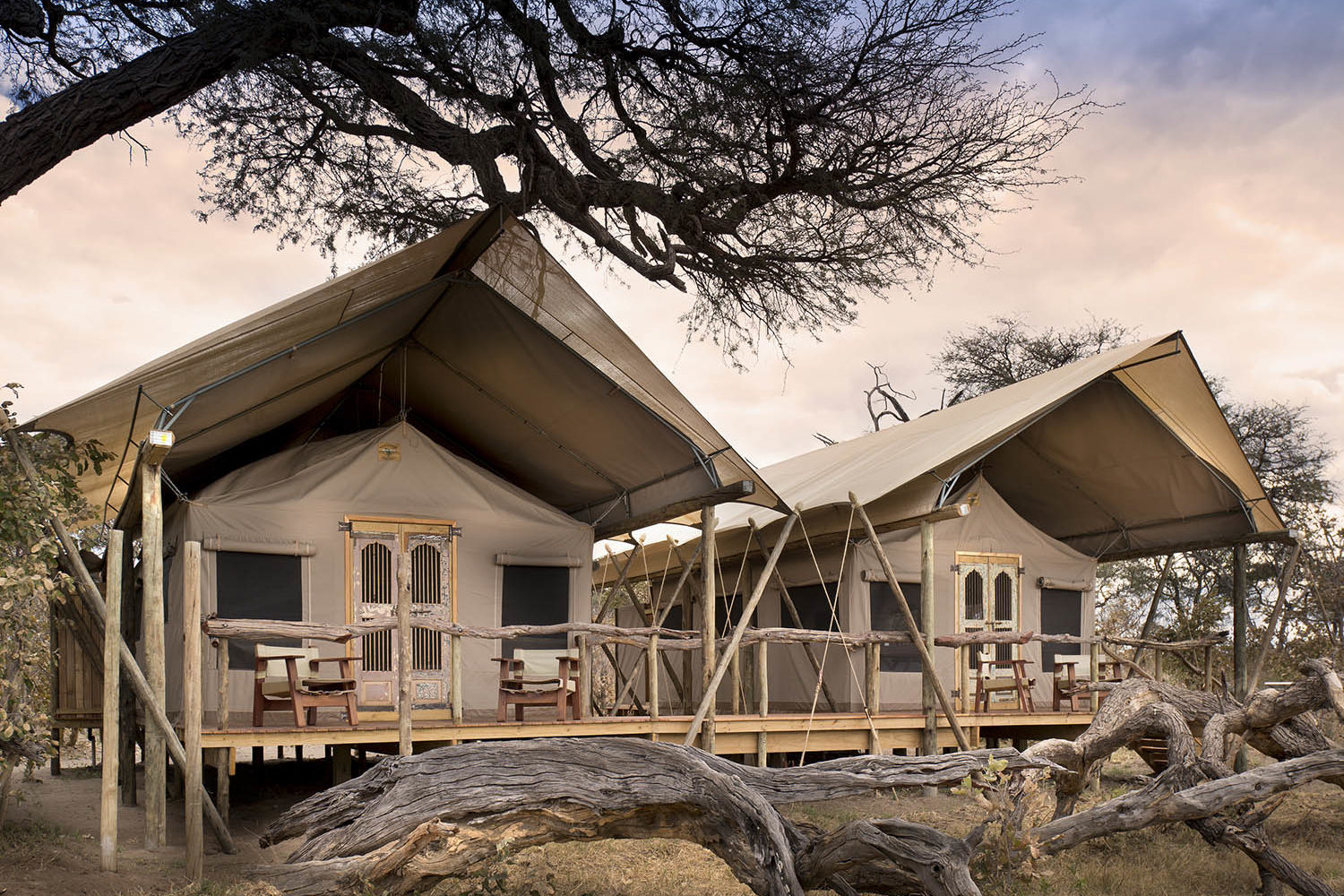 somalisa expeditions zimbabwe-zambia-in-style-hwange-national-park-african-bush-camps-traditional-safari-experience-bedrooms-from-outside