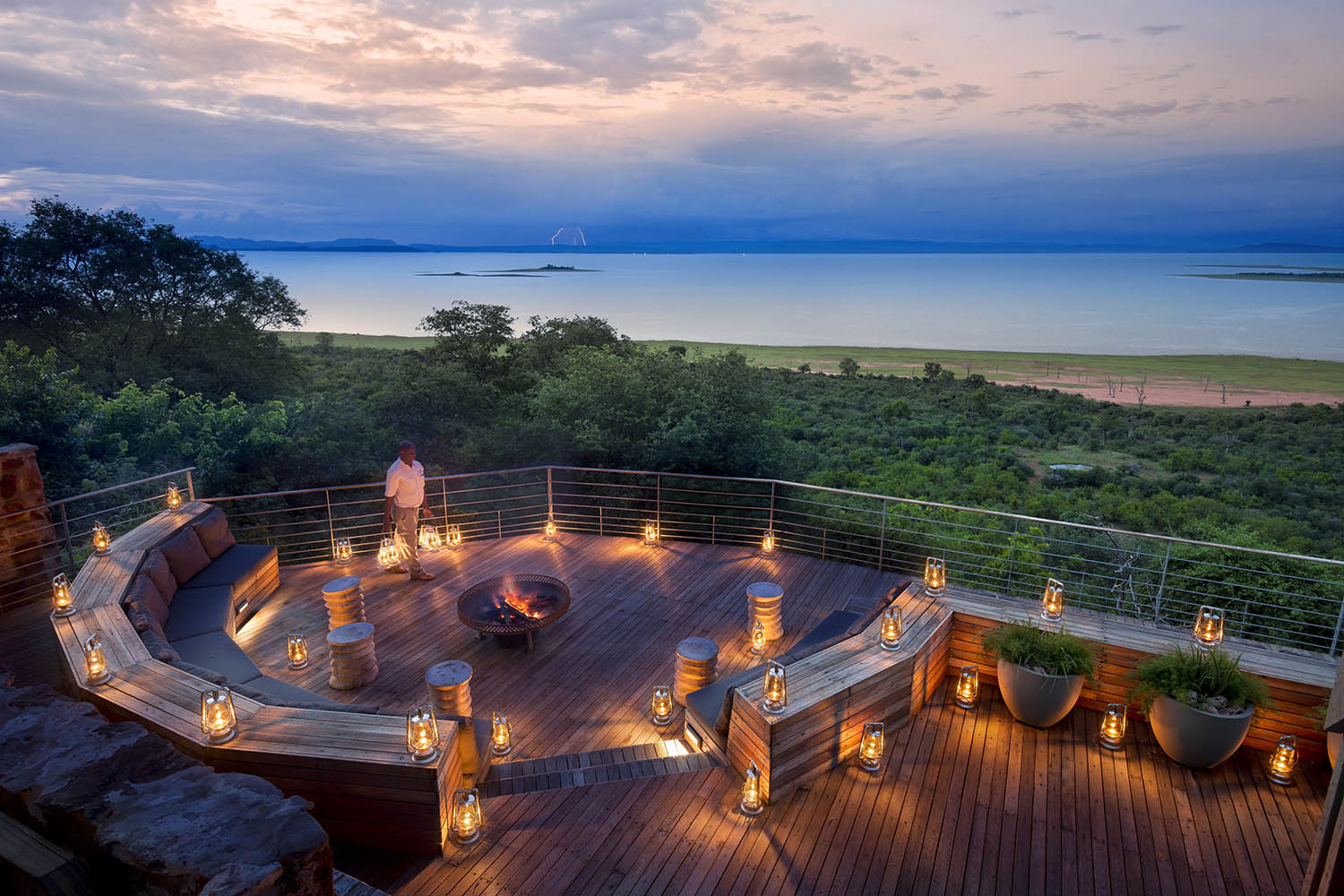 bumi hills safari-lodge-lake-kariba-zimbabwe-zambia-in-style-luxury-safaris-african-bush-camps-firepit