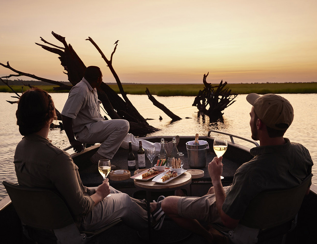 chobe chilwero botswana-lodges-zambia-in-style-chobe-national-park-guides-drinks-boat