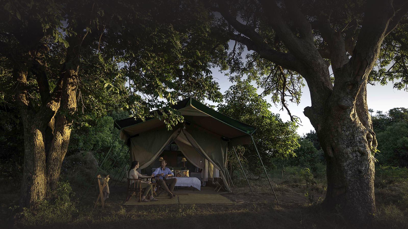 johns camp mana-pools-zimbabwe-accommodation-safari-zambia-in-style-tent-front