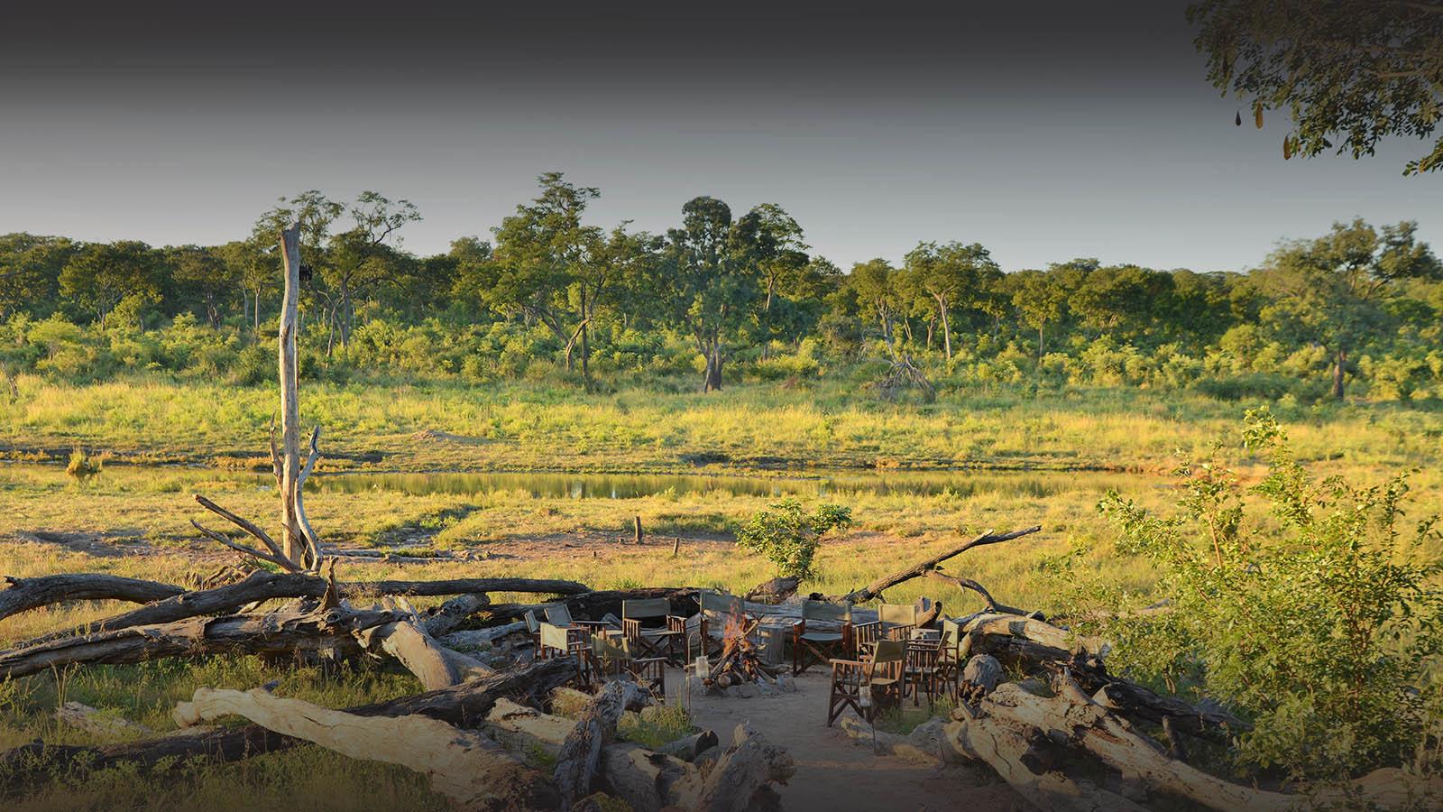 khulu bush camp zimbabwe-lodges-zambia-in-style-safaris-wildlife-africa-hwange-national-park-camp-fire