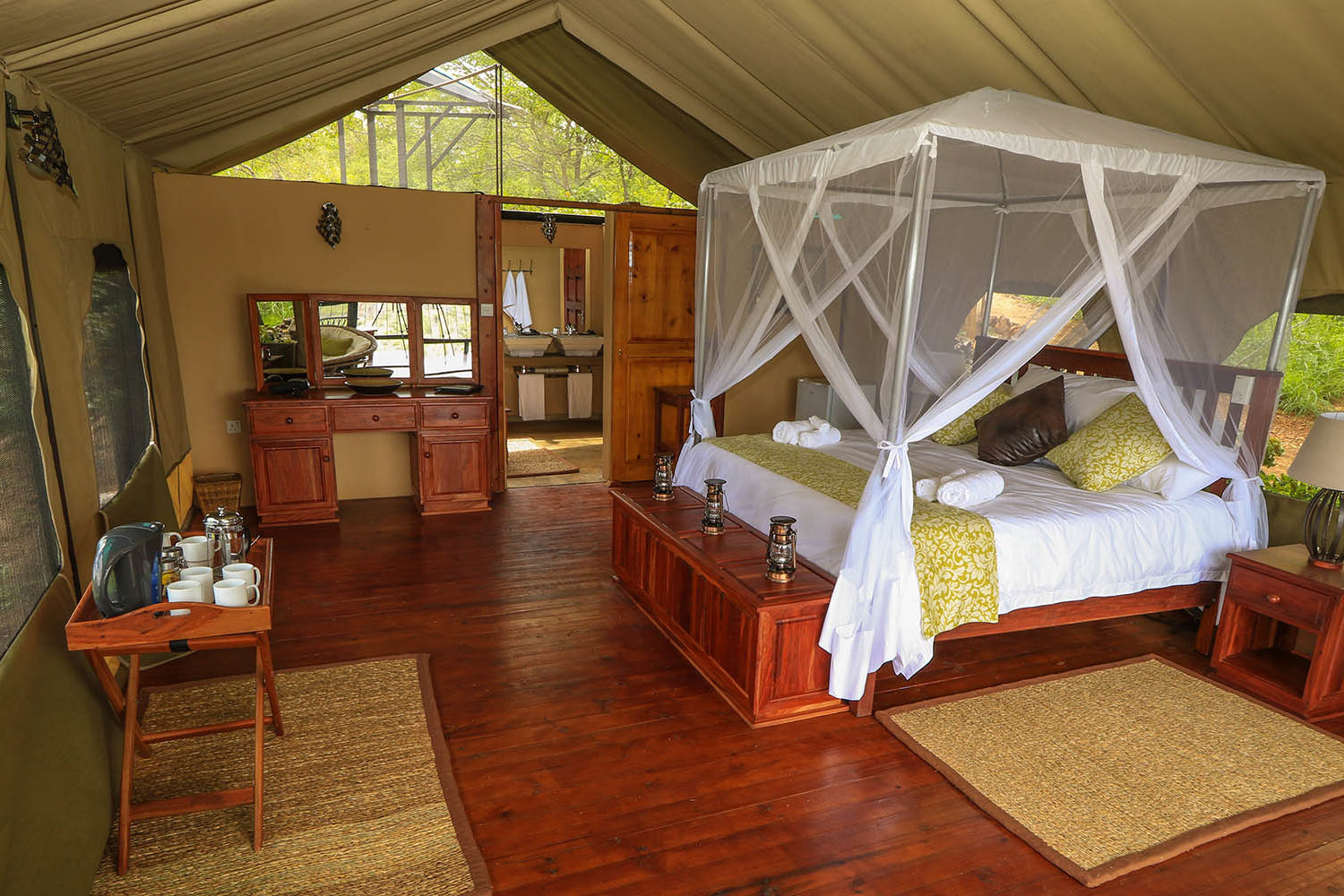 little gorges tented lodge imvelo-victoria-falls-zimbabwe-accommodation-luxury-tents-bedroom