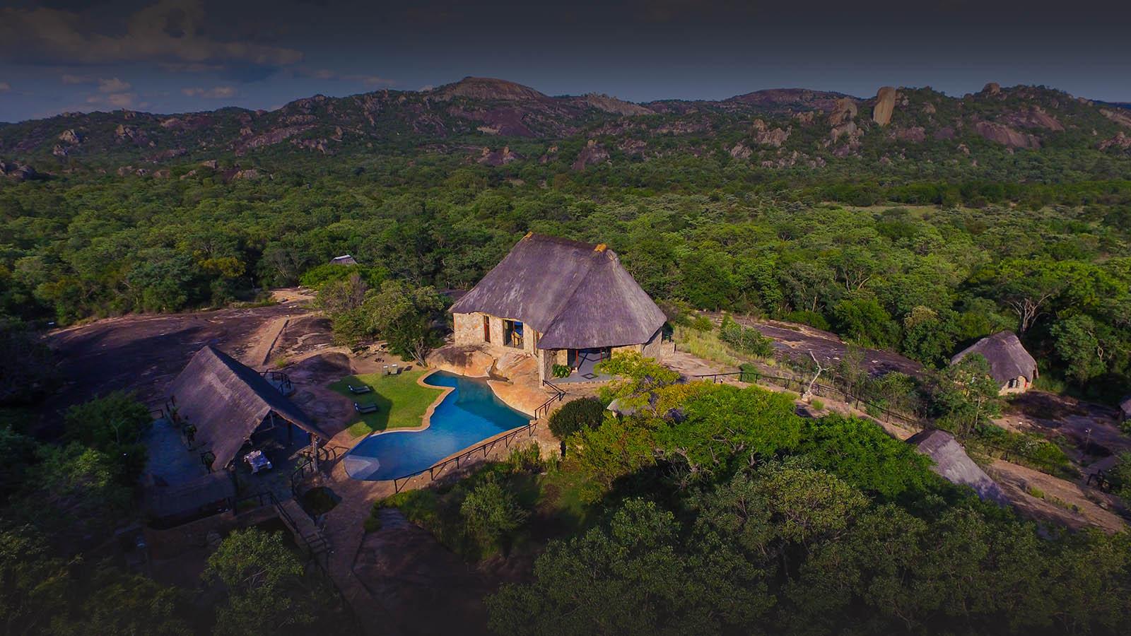matobo hills lodge-zimbabwe-lodges-accommodation-matopos-matobo-national-park-aerial