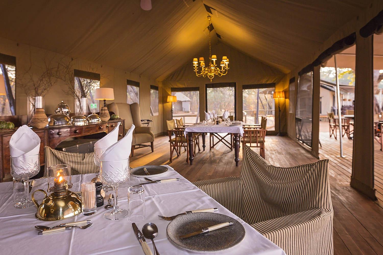 verneys machaba hwange-national-park-intimate-safari-experience-zimbabwe-accommodation-luxury-tents-dining