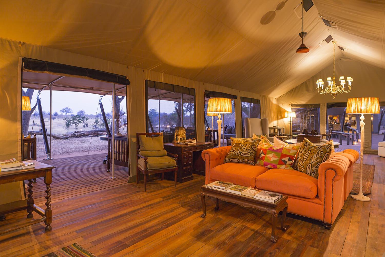verneys machaba hwange-national-park-intimate-safari-experience-zimbabwe-accommodation-luxury-tents-lounge