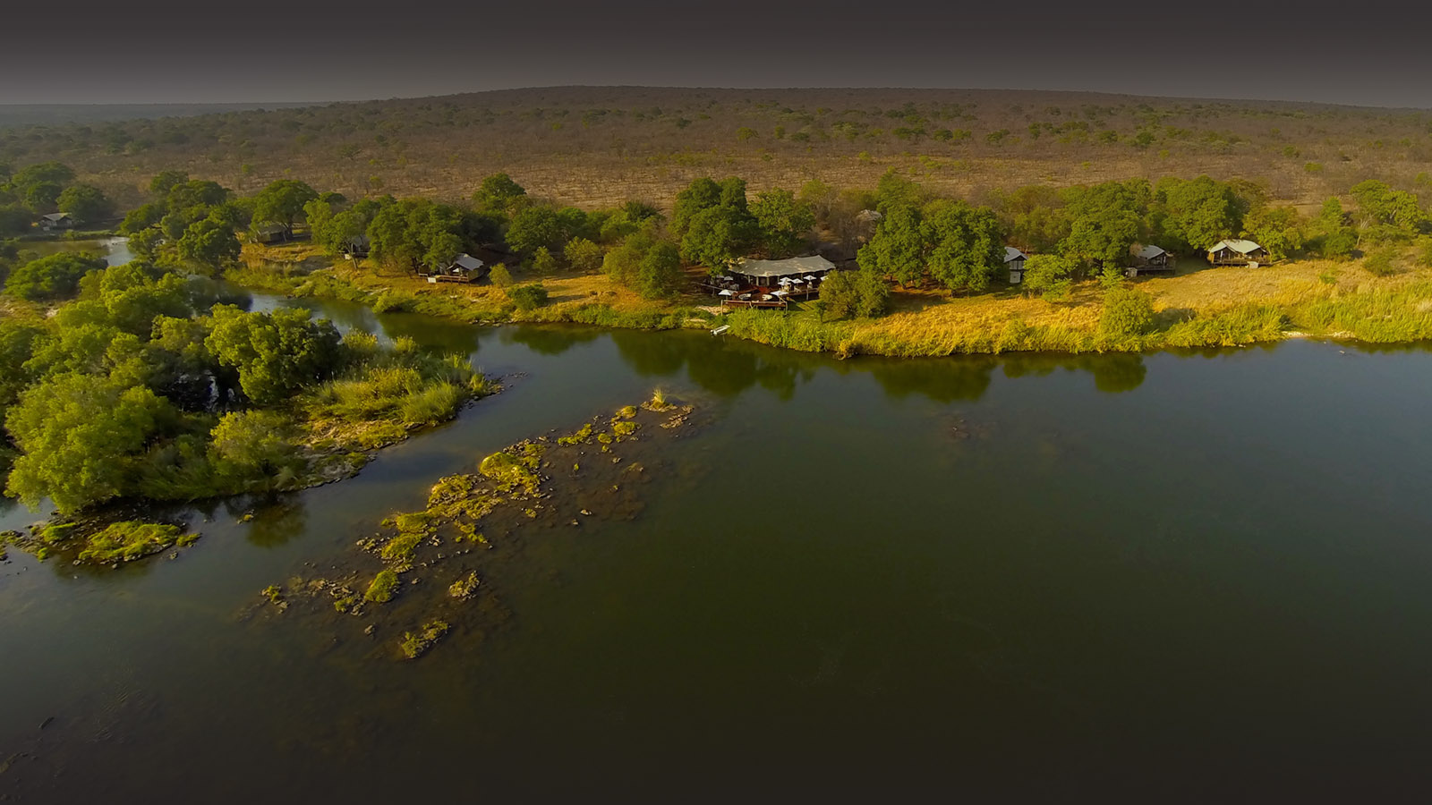 zambezi sands river camp victoria-falls-zimbabwe-accommodation-imvelo-safari-lodges-zambezi-national-park-aerial-view