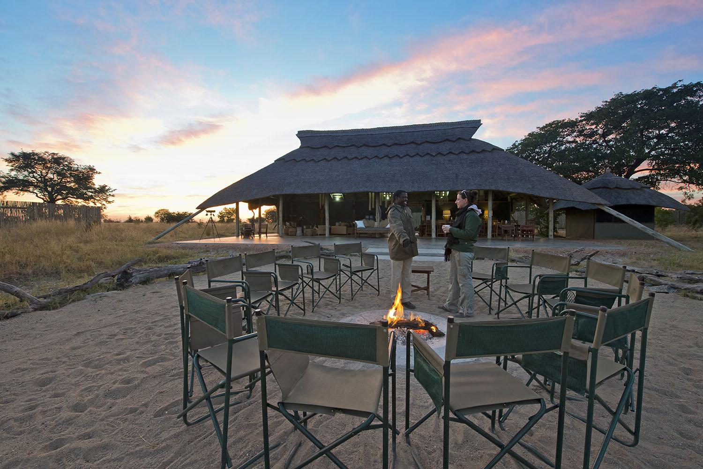 camp hwange hwange-national-park-zimbabwe-lodges-accommodation-true-african-bush-experience-camp-fire