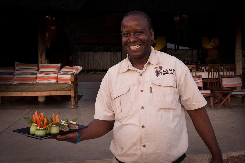 camp hwange hwange-national-park-zimbabwe-lodges-accommodation-true-african-bush-experience-staff-food