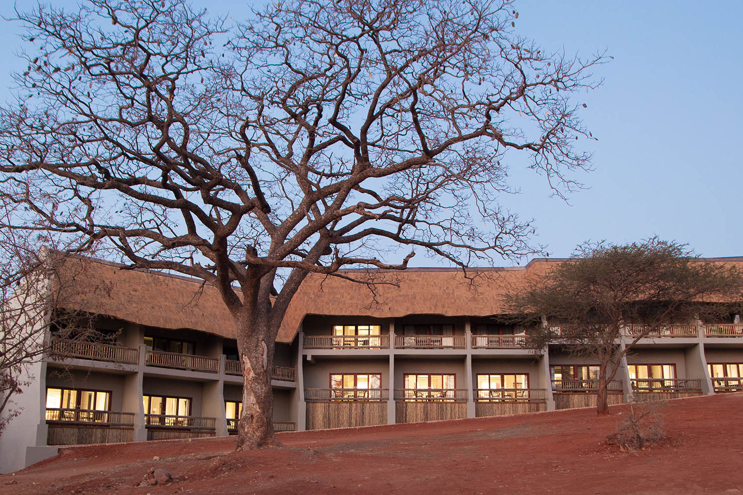 chobe bush lodge botswana-lodges-chobe-national-park-exterior-evening