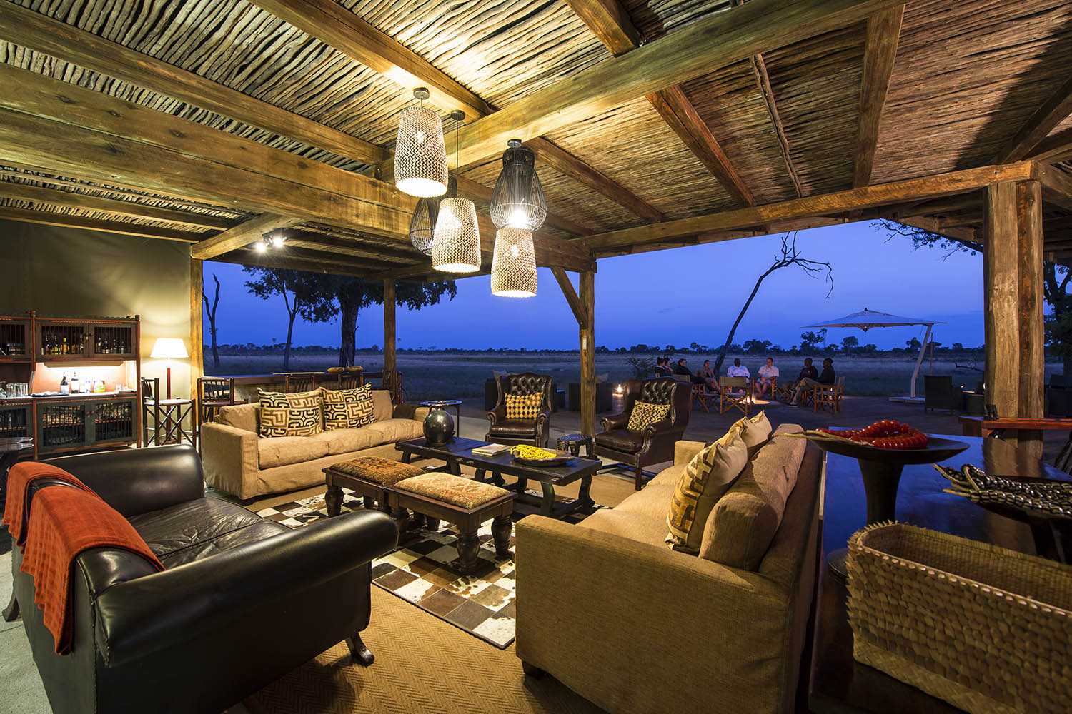 davisons camp hwange-national-park-zimbabwe-lodges-tents-wilderness-main-area
