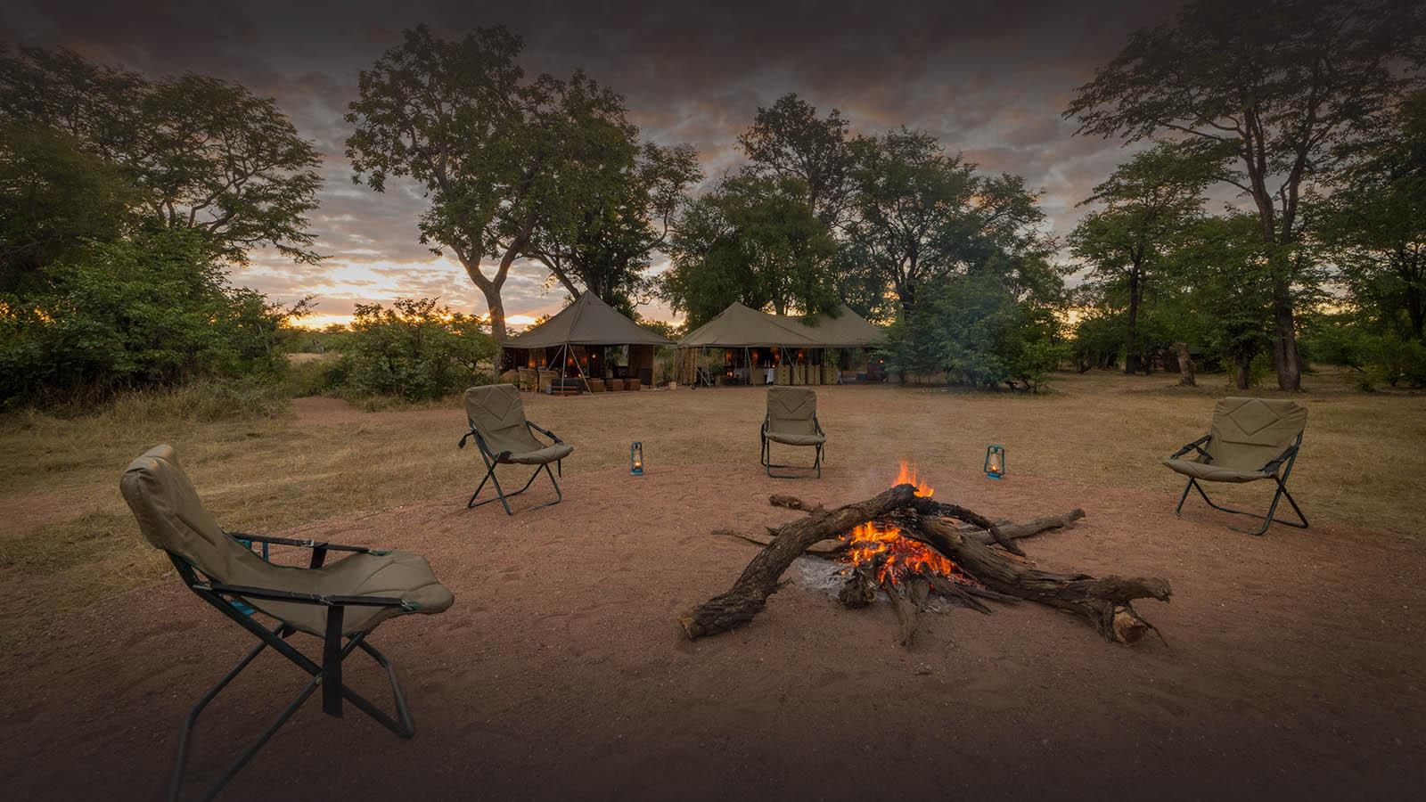 hwange bush camp hwange-national-park-zimbabwe-lodges-accommodation-authentic-camps-fire