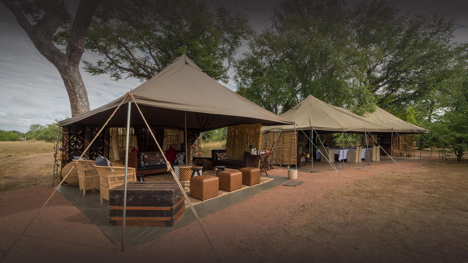 hwange bush camp hwange-national-park-zimbabwe-lodges-accommodation-authentic-camps-main-tents