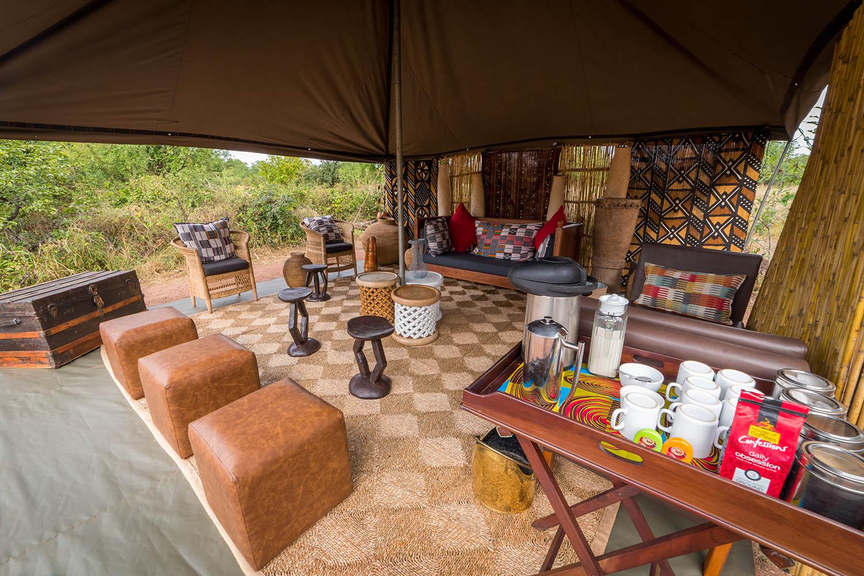hwange bush camp hwange-national-park-zimbabwe-lodges-authentic-camp-lounge