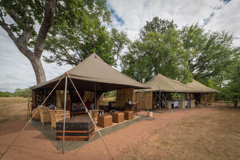 hwange bush camp hwange-national-park-zimbabwe-lodges-authentic-camp-main-area-exterior